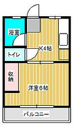 シティハイム新松戸[1階]の間取り