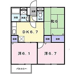 すばるIII[1階]の間取り