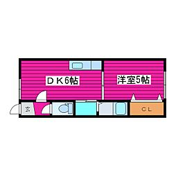 北海道札幌市東区伏古十一条4丁目の賃貸アパートの間取り