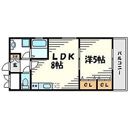レセーナアイオ[6階]の間取り