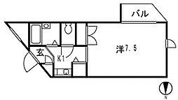 ネオディー夙川[107号室]の間取り