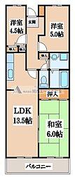 MⅢTAKAI[1階]の間取り
