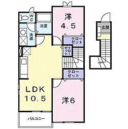 メゾン・ド・Kei[0203号室]の間取り