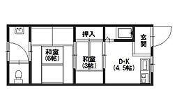 光和荘[201号室]の間取り