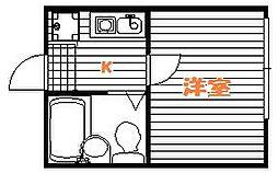 ソフィスター亀有[1階]の間取り