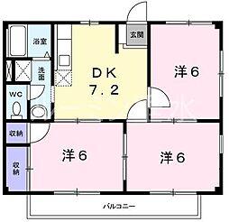ドミール桃山Ⅱ[2階]の間取り