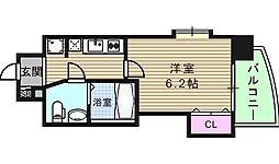 大阪府大阪市中央区高津2丁目の賃貸マンションの間取り