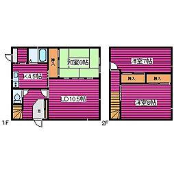 [一戸建] 北海道札幌市北区新琴似二条5丁目 の賃貸【北海道 / 札幌市北区】の間取り