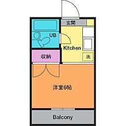 ガーデンハイツ飯山B[2階]の間取り