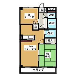 エクセルハイツ136[1階]の間取り