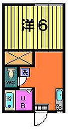 稲荷山ハイツ[2-A号室]の間取り