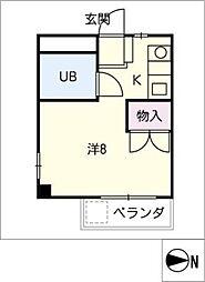 ハイツハヤシ[1階]の間取り