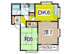 メゾンアルファ B棟[2階]の間取り