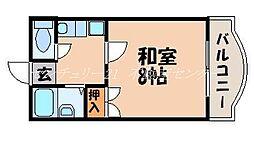 岡山県岡山市北区富原の賃貸マンションの間取り