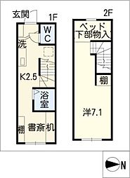 [タウンハウス] 愛知県西尾市矢曽根町赤地 の賃貸【/】の間取り