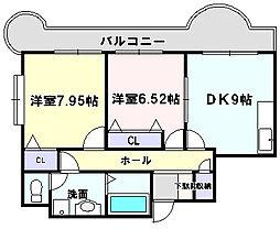 JSC泉大津[201号室]の間取り