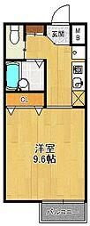 エトール夙川[2階]の間取り