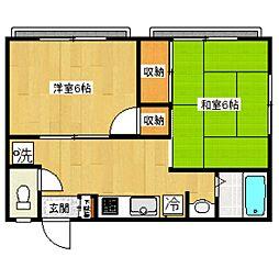 東京都杉並区高井戸東3丁目の賃貸アパートの間取り
