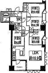 ライオンズ阿倍野昭和町[10階]の間取り