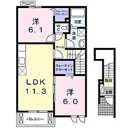 セイバリーK[2階]の間取り