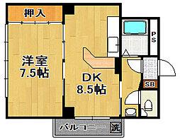ハイコート泉尾[4階]の間取り