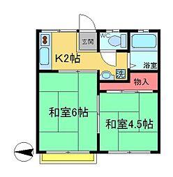 ラヤマハイム[2階]の間取り
