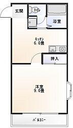 ハイツ上村III[2階]の間取り