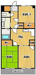 植竹マンション[2階]の間取り
