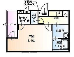 フォーリーブス 33 D棟[3階]の間取り