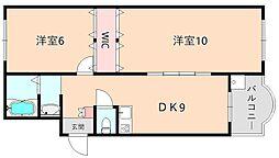 池田マンション[303号室]の間取り