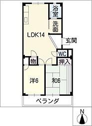 須成ハイツ[2階]の間取り