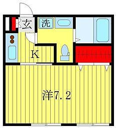 ワンダースペース[2階]の間取り