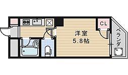 大阪府大阪市阿倍野区天王寺町南2丁目の賃貸マンションの間取り