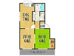 ハミング甲風園[1階]の間取り