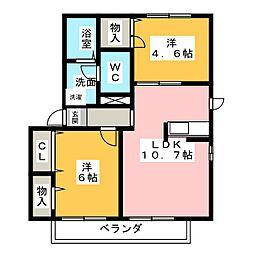 メープル多加木[2階]の間取り