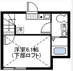 グランドゥール横浜[101号室]の間取り
