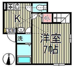 ハーミットクラブハウス鎌倉[203号室]の間取り