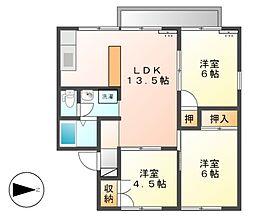 マリーンハイツ加賀[2階]の間取り