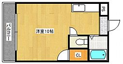 ラフォーレ御井[2階]の間取り