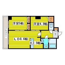 北海道札幌市東区北十五条東7丁目の賃貸マンションの間取り