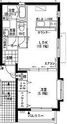 (賃)ユーミーれんげ草[3階]の間取り
