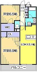 東京都国分寺市本多4丁目の賃貸マンションの間取り