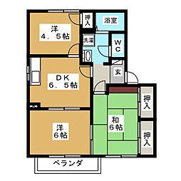 プロムナードFUKUTA D棟[2階]の間取り