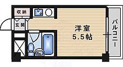阪急千里線 吹田駅 徒歩7分の賃貸マンション 2階ワンルームの間取り