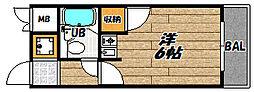 大阪府大阪市東淀川区大隅1丁目の賃貸マンションの間取り