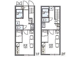 レオパレス松崎III[1階]の間取り