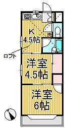 ジュネパレス鎌倉第3[1階]の間取り