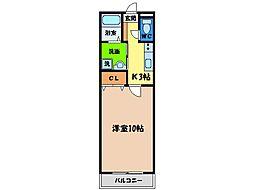 徳島県徳島市出来島本町2丁目の賃貸マンションの間取り