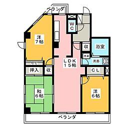 愛知県名古屋市千種区日和町1丁目の賃貸マンションの間取り