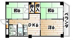 福岡県北九州市小倉南区星和台1丁目の賃貸マンションの間取り